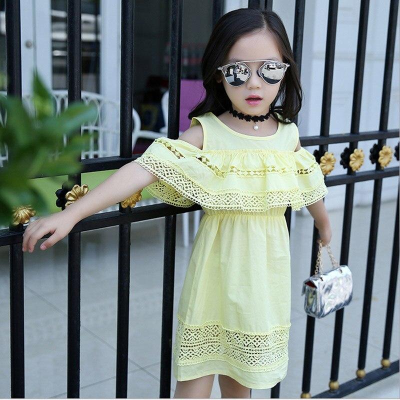 Baby girl dress 2017 yay Uşaqlar içi boş krujeva Princess Infantil - Uşaq geyimləri - Fotoqrafiya 5