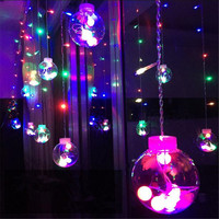 Christmas 3m Droop 0 8m Curtain LED Fairy Tale String Lights 220V Outdoor Romantic Decoration New
