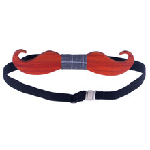 Wooden Bow Tie Mustache Style