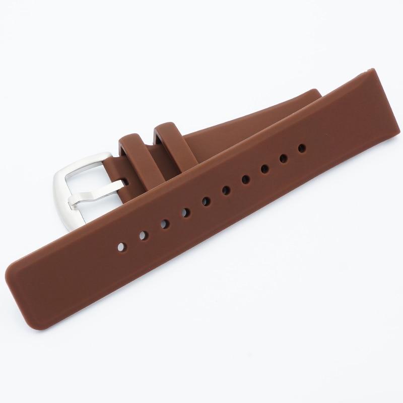 MAIKES 22mm blødt, behageligt silikone-armbånd i mænd i høj - Tilbehør til ure - Foto 6