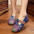Mujeres Zapatos Viejos Beijing zapatos de Mary Jane Pisos Con Zapatos Casuales de Estilo Chino Bordado de Tela zapatos de mujer Más El Tamaño 34-41
