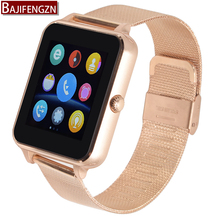 bluetooth smart watch for android phone sport reloj inteligente Support camera SIM card Steel leather strap PK V8 GT08 Q18 A1