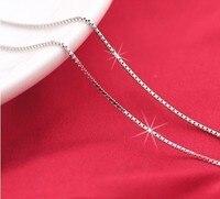 2017 Infinity Hộp Thanh Lịch Chuỗi 990 Sterling Silver Necklace Chains, nổi Mề Đay Neckless Phụ Nữ Nam Giới Đồ Trang Sức, theo dõi