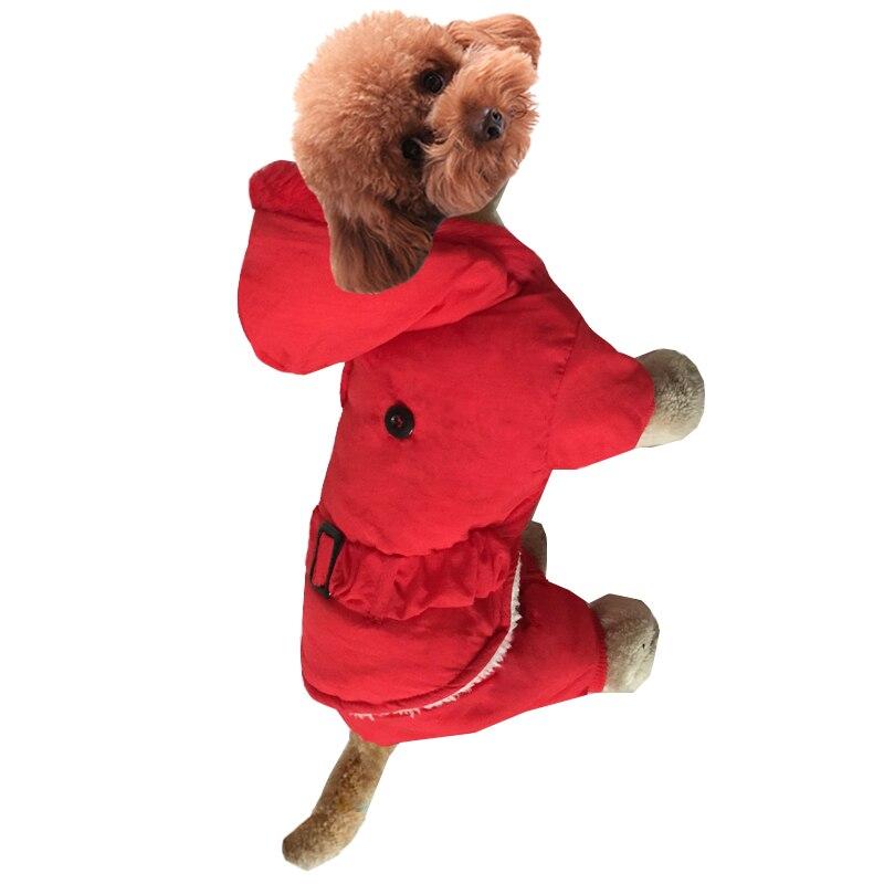 4e2411fd8 Nuevo invierno cálido perro mono con capucha espesar algodón acolchado ropa  para mascotas ropa de perro invierno CAPA