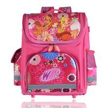 1497db5a002b Ортопедические детей школьные сумки для девочек; Новинка Детский Рюкзак  Monster High Винкс книга мешок принцессы