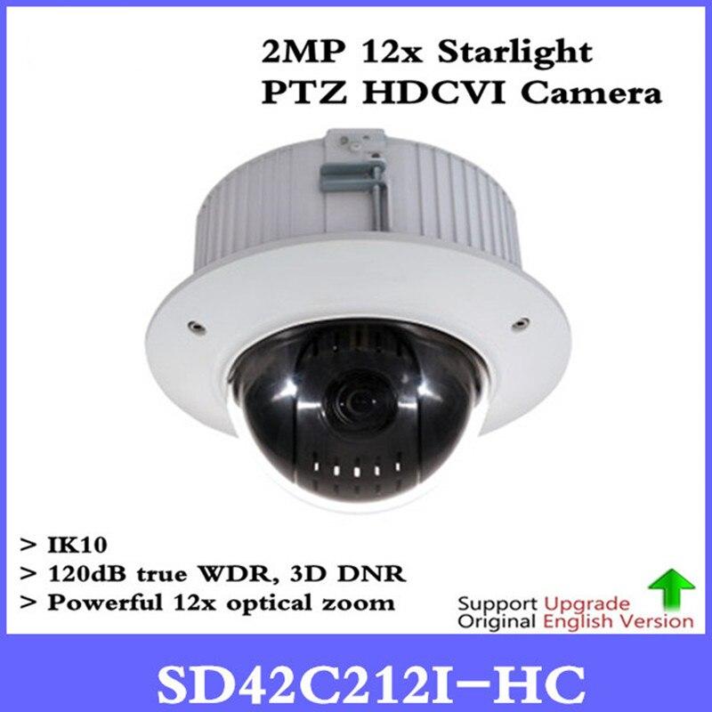 все цены на Original DH English Version Security CCTV 2Mp Mini HDCVI PTZ Dome Camera 1080P HDCVI 12X PTZ Camera without Logo SD42C212I-HC онлайн