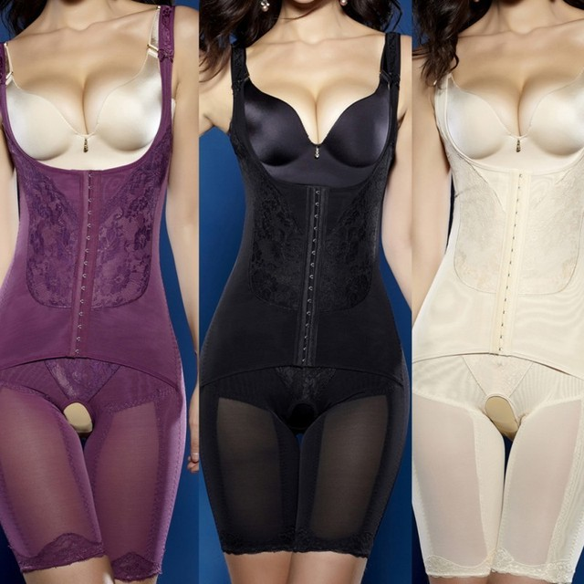 Women Seamless Shapewear Waist Trainer Slimming Underwear Push Up Bust Bodysuit Body Shaper Plus size