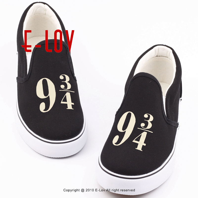 E-LOV Funny Printed Canvas Shoes Hip Hop Men Boys Casual Loafers Graffiti Leisure Shoes Slip-on Lazy Shoes e lov unique design taurus horoscope luminous canvas shoes women diy graffiti couples lovers casual flats zapatillas mujer