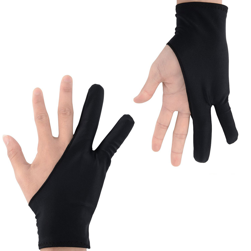1pc Two Finger Anti-fouling Glove For Artist Drawing /& Pen Graphic Table UK