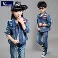 2016 big star boy girl cowboy suit Korean version of the flag set of three best selling children for new kids