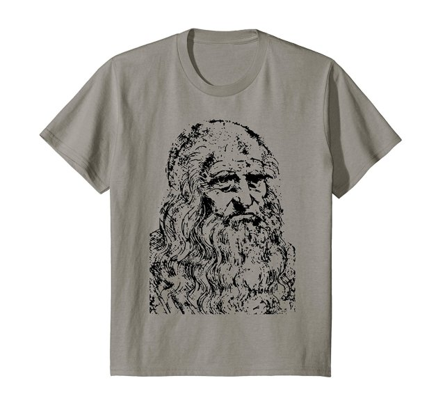 Cotton Leonardo DaVinci T-Shirt