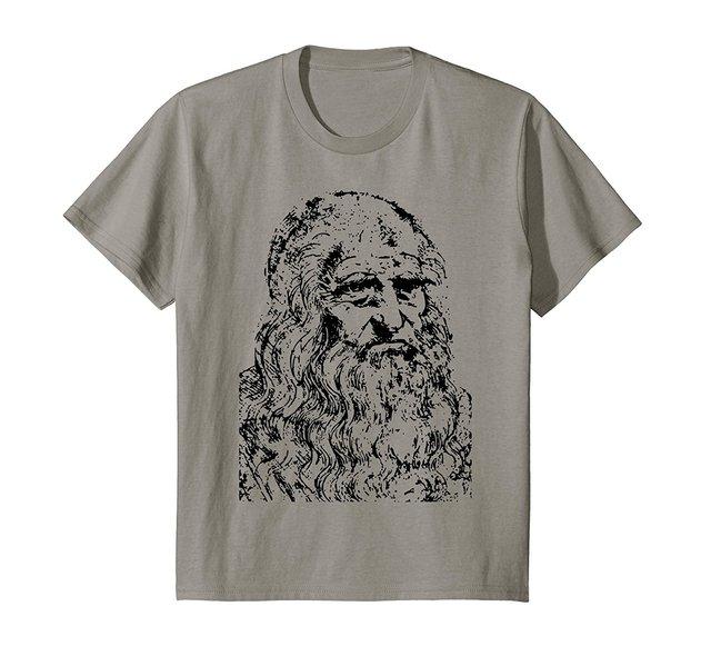 2019 nuevo verano fresco Tee camisa Leonardo Da Vinci camiseta Da Vinci arte historia Tee Camiseta de algodón