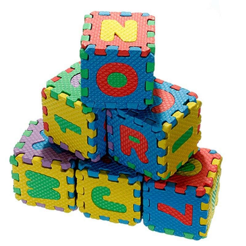 Детские красочные EVA пены букв алфавита числа Коврики головоломки