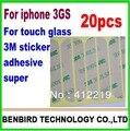 20 шт. для iPhone 3gs сенсорный экран стекло 3 м ленты клей клей наклейку вверх и вниз частей YL1299