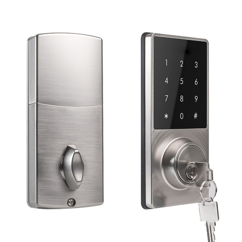 Phone APP Control Office Apartment Home Anti-Theft Smart Touch Pad Code Lock Security Entry Password Door Lock