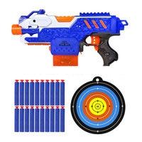 Sniper Rifle Nerf Continuous Gun Soft Bullet Toy Gun 20 Bullets 1 Target Electric Gun Toy