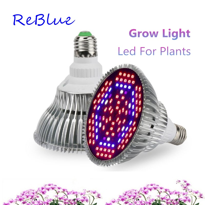 ReBlue Grow Light Full Spectrum Led For Plants 30W 50W 80W Grow Lamp Plant Led Grow Light E27 Bulb For Indoor Growing Hydroponic