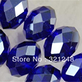 Wholesale price 195pcs 4X6mm hot sale accessories dark blue crystal glass faceted abacus rondelle loose spacer beads MY2228