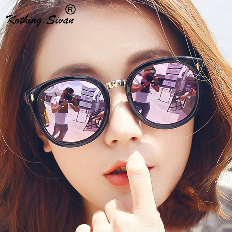 Women's Glasses Apparel Accessories 2019 Oversize Vintage Brand Designer Grey Gold Mirror Sunglasses For Women Girls Reflective Flat Lens Sun Glasses Female Oculos Cool In Summer And Warm In Winter