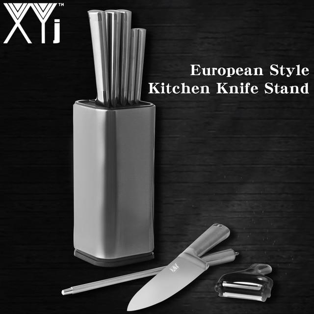 XYj Master Design Kitchen Knife Stand Stainless Steel Knife Block Knife Holder Fashion Outlook Kitchen Knive Partner Kitchenware