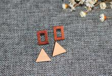 New Hot Fashion jewelry geometric wood   stud  earrings  nice gift for women ladie's Top quality  E083