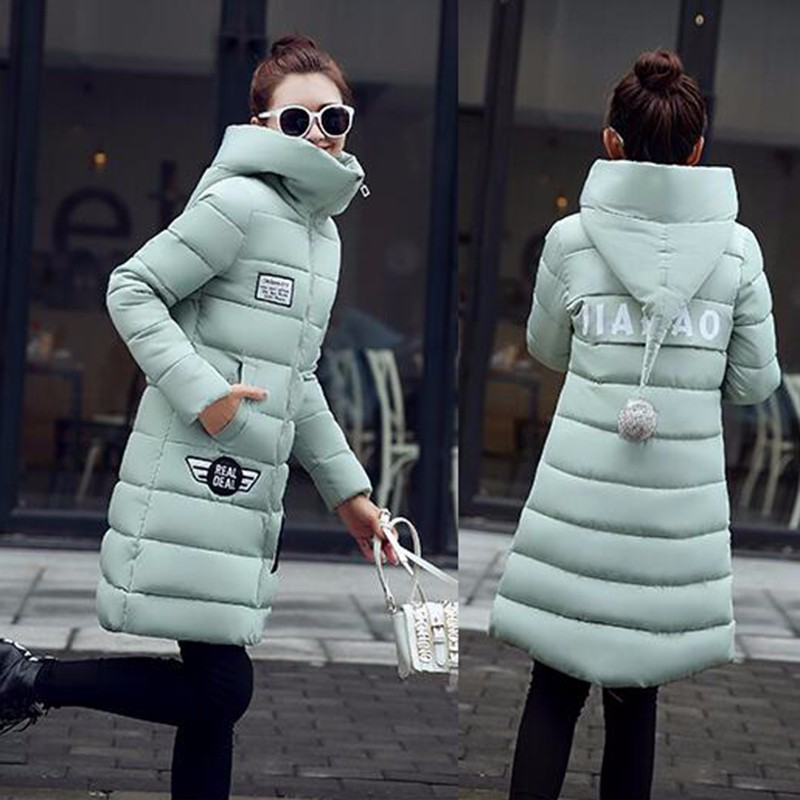 Parkas Winter Jacket Women\'S Hooded Thicken Coat Female Hot Warm Outwear Cotton-Down Padded Ladies Long Wadded Jacket Coats Parka 2016