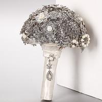 Gorgeous Customized Wedding Accessories Pearl Beaded Brooch buque de noiva Wedding Flowers Bridal Wedding Bouquet