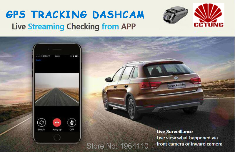 JC200 3G Smart Car GPS Tracking Dashcam with Dual Camera Recording & SOS Live Video View by Free Mobile APP for Commercial Fleet_F9