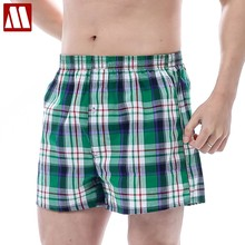 MYDBSH Brand Loose Cotton plaid Men Board Shorts Men's Trunks Comfort Homewear Fashion Soft Leisure Summer Short High Quality(China)