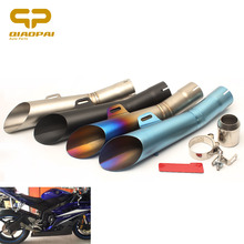 Motorcycle Exhaust Muffler Pipe Slip-On Moto Escape DB Killer Stainless Steel  For Yamaha YZF R6 R3 Ningja 250 Kawasaki ER-6N