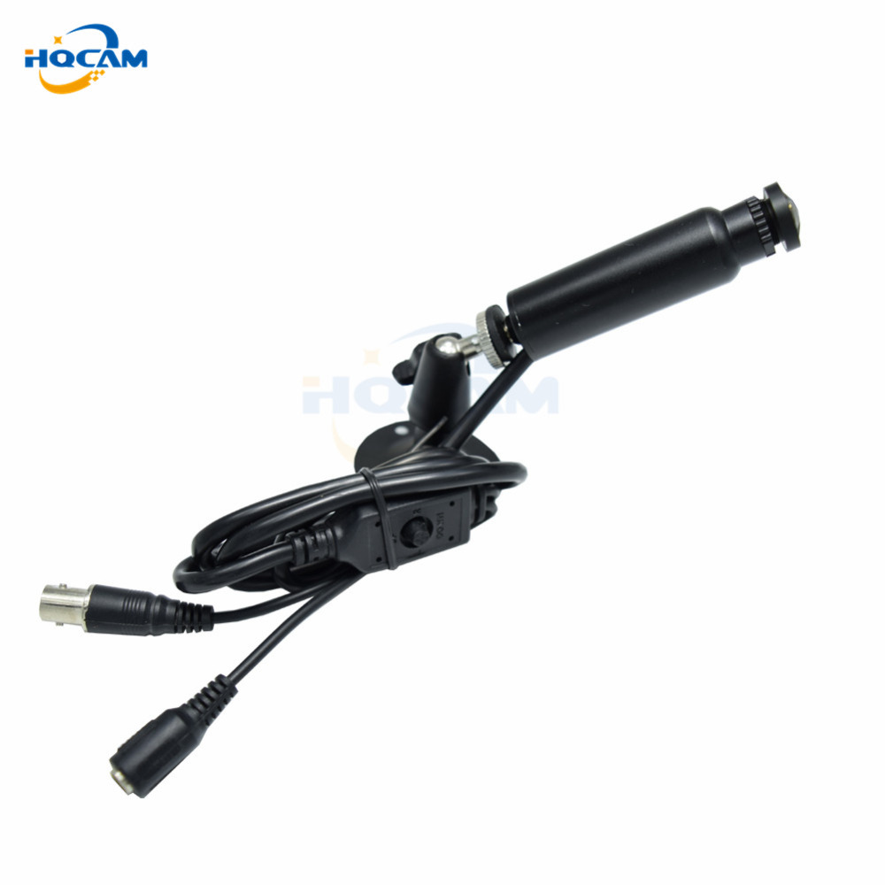 HQCAM 2.1mm lens 480TVL Sony CCD OSD Menu CAMERA Welding camera Video Surveillance High Resolution mini ccd camera Light