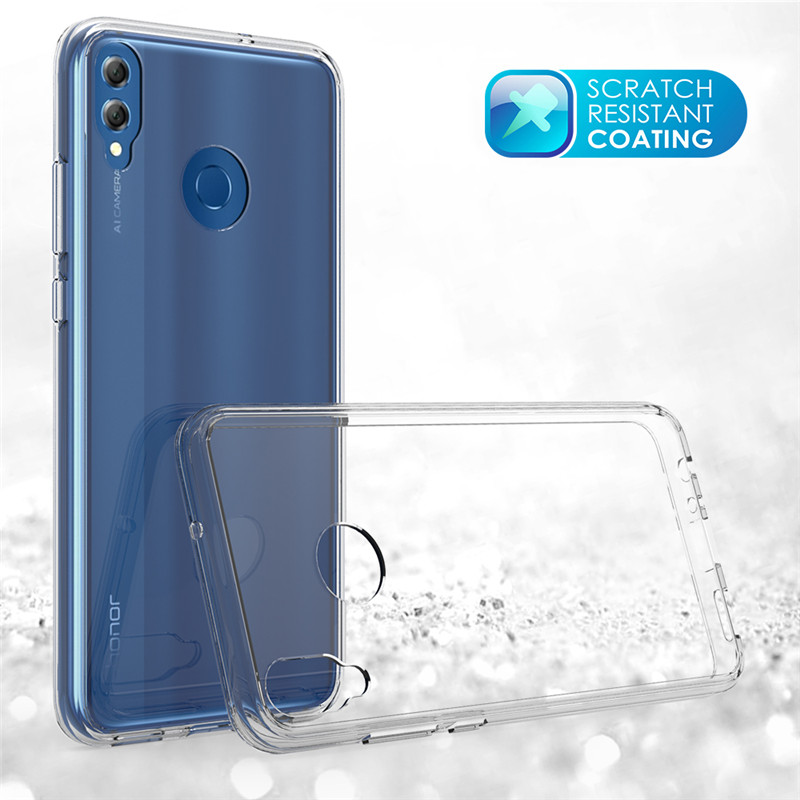 Honor 8X Case Ultra Thin Hard Plastic Acrylic Case Anti Shock Transparent Phone Case For Huawei Honor 8X in Fitted Cases from Cellphones Telecommunications
