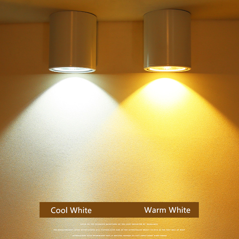 Image 5 - Surface mounted led COB downlight 3W 5W 7W 12W led lamp ceiling AC85 265V spot light LED Downlight Decoration Lamps-in LED Downlights from Lights & Lighting