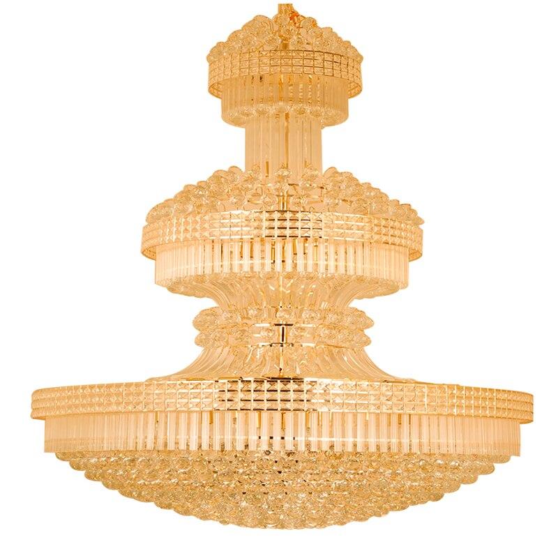 Moderne Kristall kronleuchter Lange Gold Kronleuchter Leuchte Warmweiß Neutralweiß Kühles Weiß 3 Farben Dimmbare Led lampen - 4
