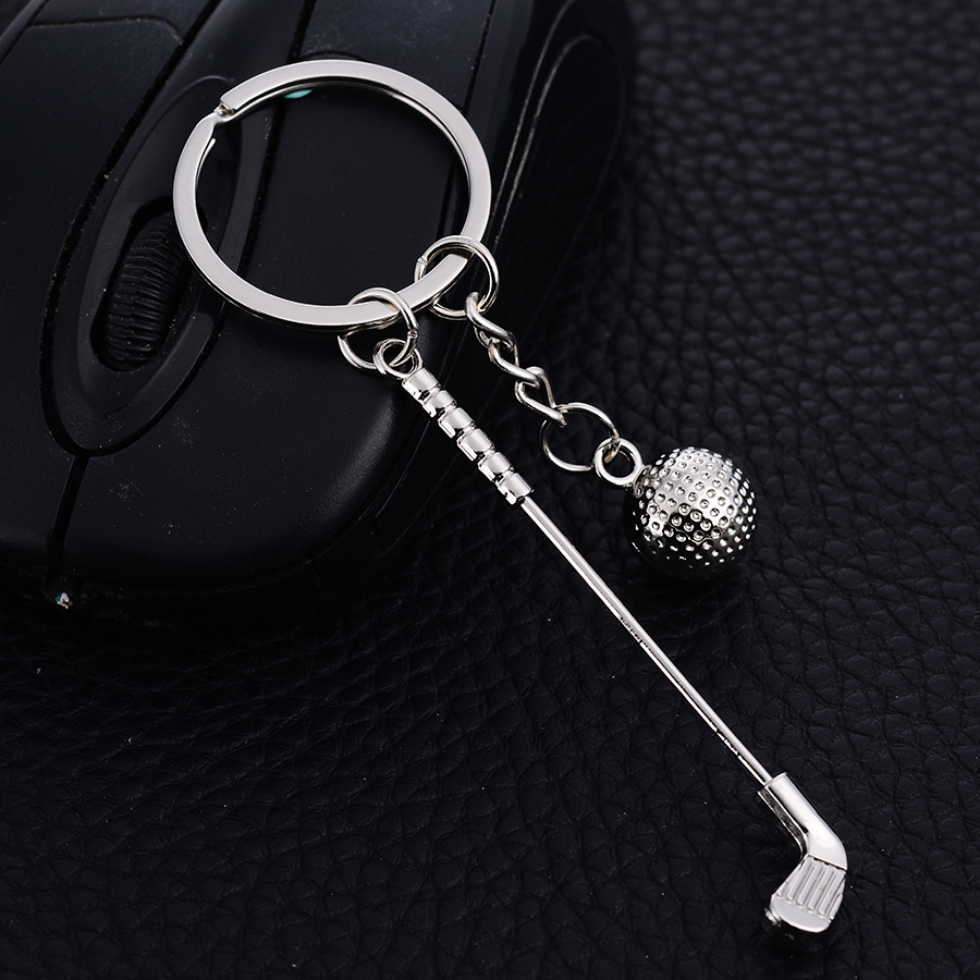 10pcs Llavero!Creative Golf Style Keychain Movie Series Sports Keyring Charm Metal Pendant Keyfobs Key Holder Jewelry Gift J023
