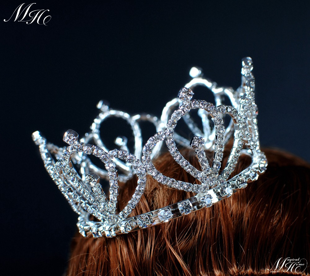 Crowns full circle round tiaras rhinestones crystal wedding bridal - Aliexpress Com Buy Royal Style Small Round Tiara Mini Crown Clear Crystal Rhinestone Hairwear For Bride Pageant Prom Birthday Party From Reliable Tiara