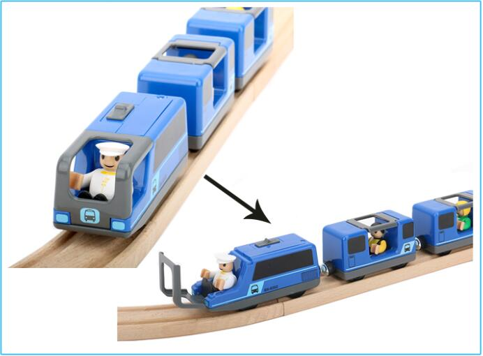 Two Wooden Track Duplo Bridge Extension, black not blue