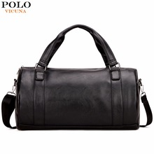 VICUNA POLO Trendy Rolling Traveling Bag For Men Large Size Duffle Travel Bags Fashion Mens Round Bucket Design Men Shoulder Bag