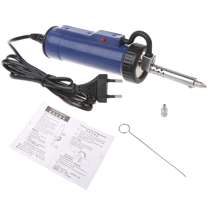 30W 220V 50Hz Electric Vacuum Solder Sucker Desoldering Pump Iron Gun Hand Tool