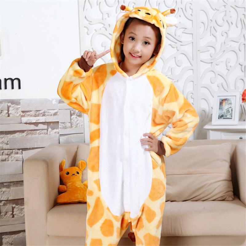 Character Baby Boys Girls Giraffe Pattern Kids Pajamas Flannel Stitch Animal Pajamas Kid Pajama sets Onesies Children Clothing