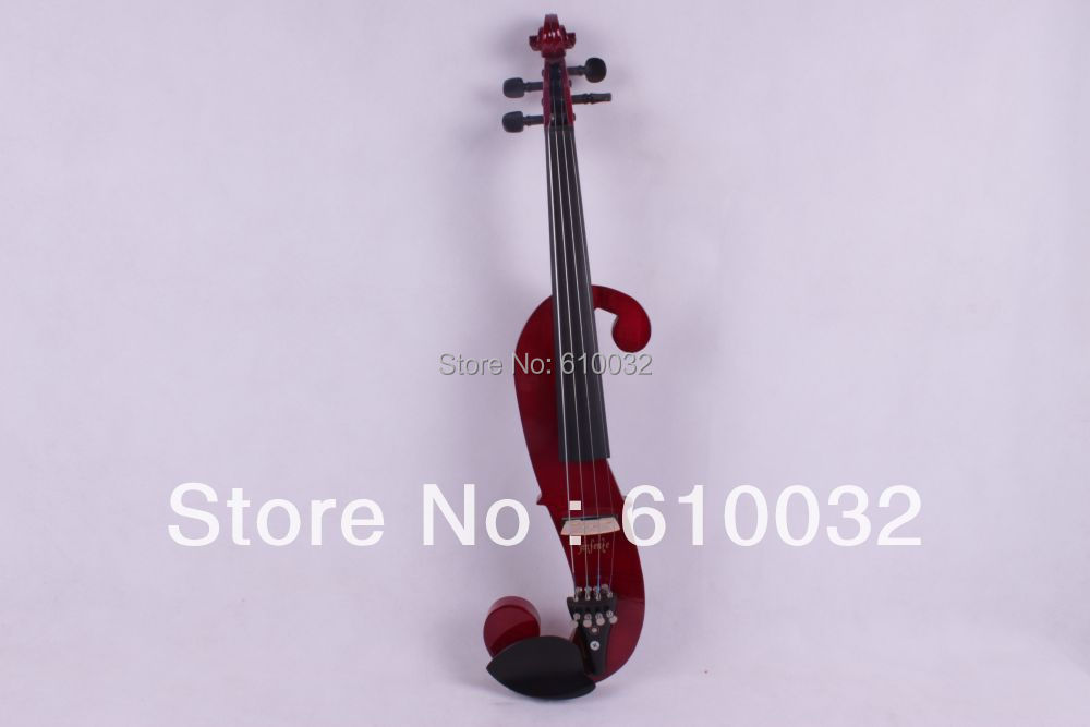 4/4 Electric Violin Solid wood 15 --89#   dark    color  4string 4 4 electric violin solid wood 6 18 silvery dark blue color 4 string
