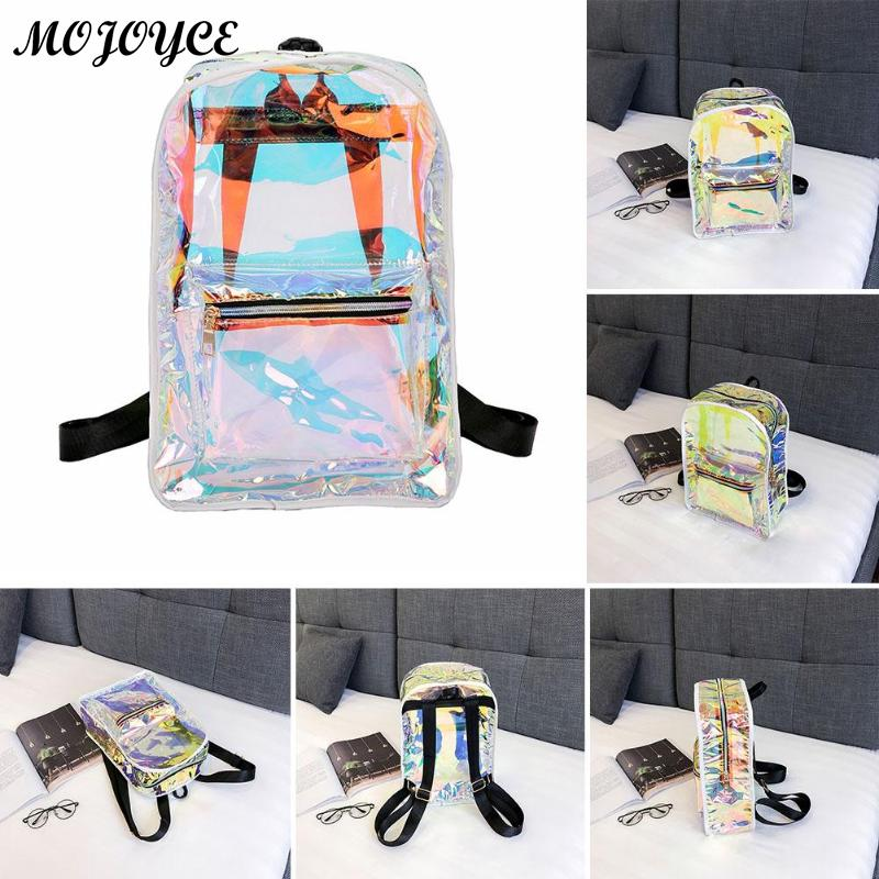 New Transparent Holographic Backpack Korean Style Small Rucksack For Girls Shining Hologram Shoulder Bags Mochilas Feminina #4