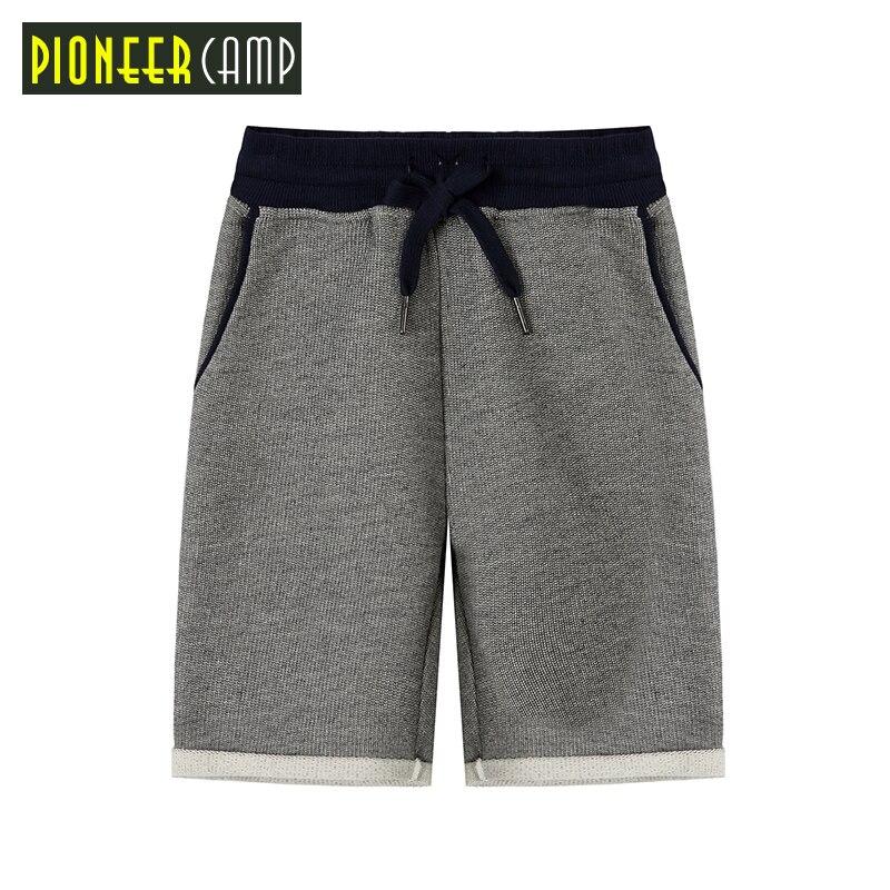 Pioneer Camp Brand Summer Boys   Shorts   High Quality 4-14Y Kids Casual   Shorts   Fashion Soild Print   Shorts   Children Clothing