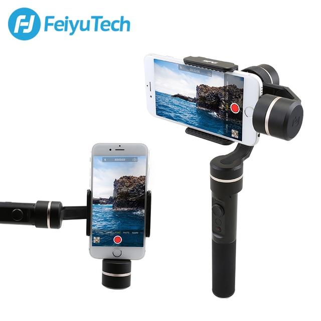 Dorigine FeiyuTech Feiyu SPG Cardan 3 Axes Anti-éclaboussures Stabilisateur De Cardan pour iPhone X 8 7 6 Plus Smartphone Gopro