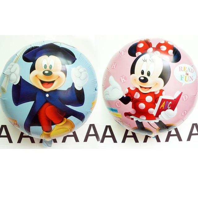 5pc mickey minnie balloons for birthday party reading book cartoon