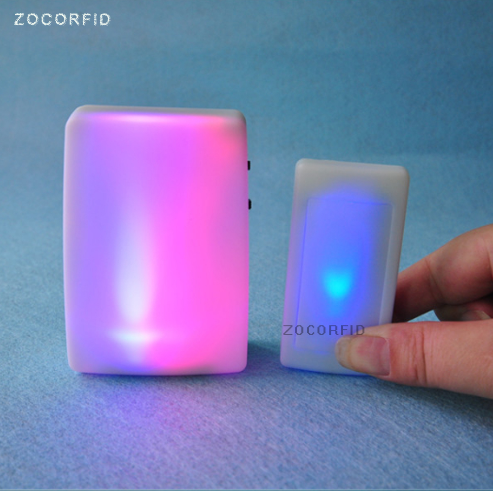 Free Shipping 7 Colors Light  Flash Music Doorbell Wireless Doorbell Suitable For The Deaf/Hard Of Hearing Music Can Be Changed