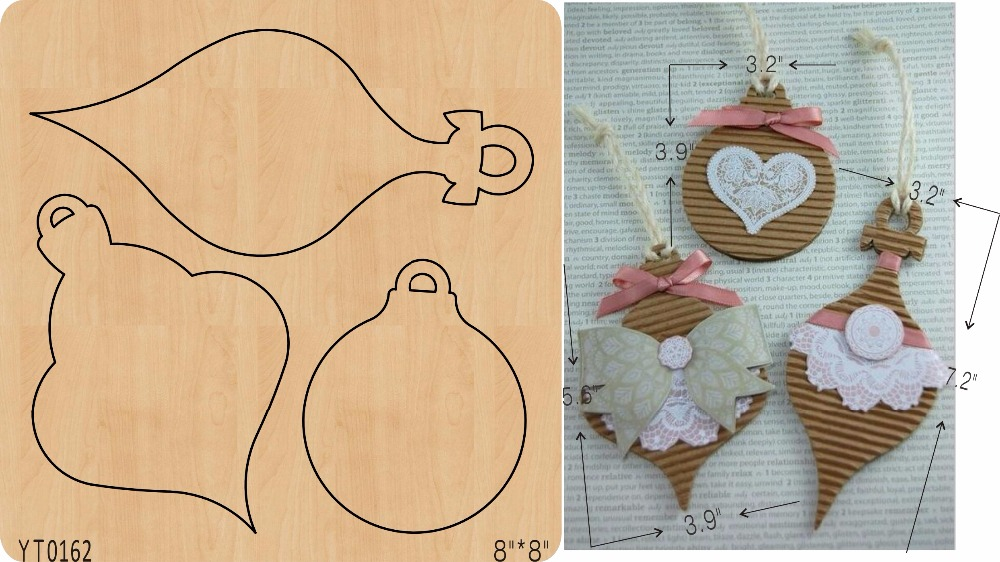 Ornamental pendant 3 DIY wooden die Scrapbook mold cutting tool die YT0162