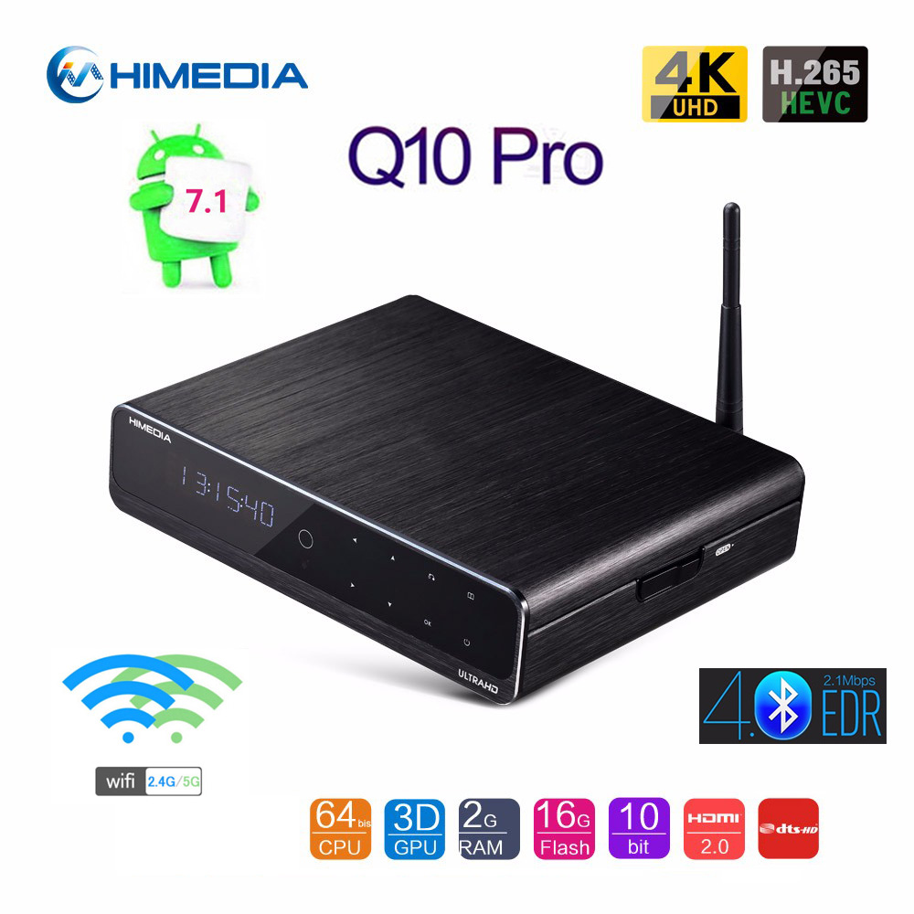 Original Himedia Q10 Pro Update Android 7.1 TV BOX 2018 2GB 16GB 2.4G/5G WIFI DTS Bluetooth Smart Box Support 3.5