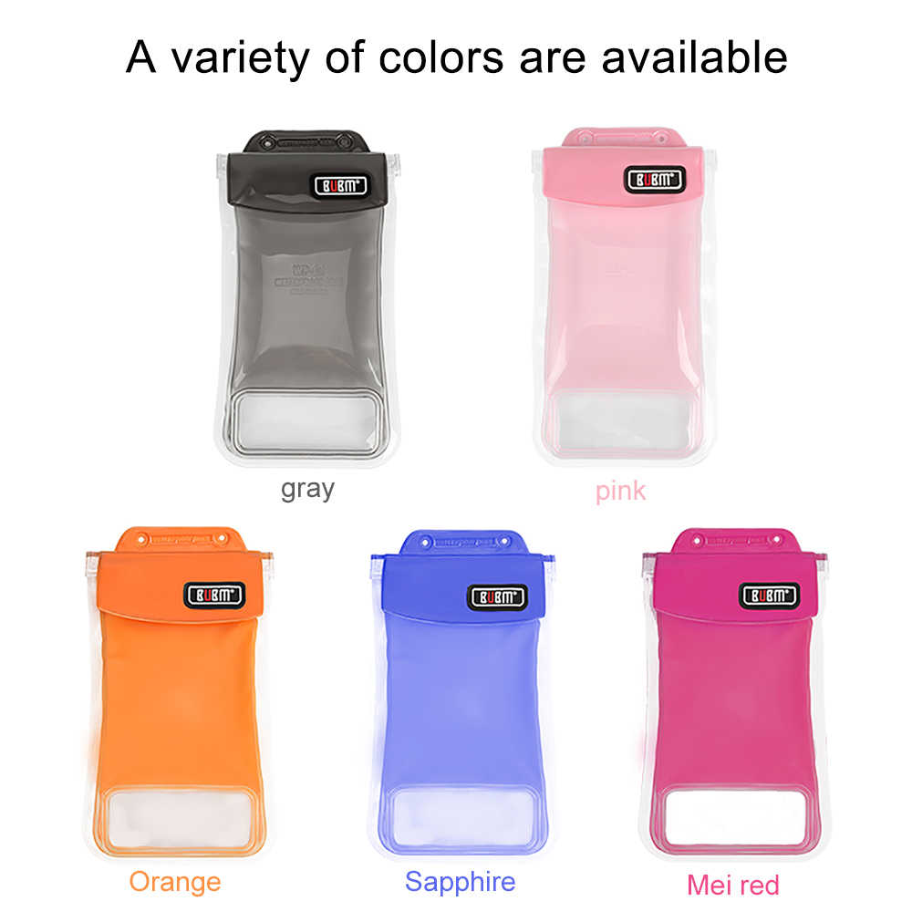 BUBM  Transparent Practical Phone Waterproof Bag Underwater Seal Bag Swimming Pouch Convenience PVC Colorful Protective Pockets
