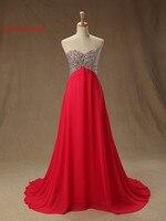 Red abiti da sera etero scollo a cuore chiffon 2017 vestido de festa principessa style abiti da sera formale abiti da ballo